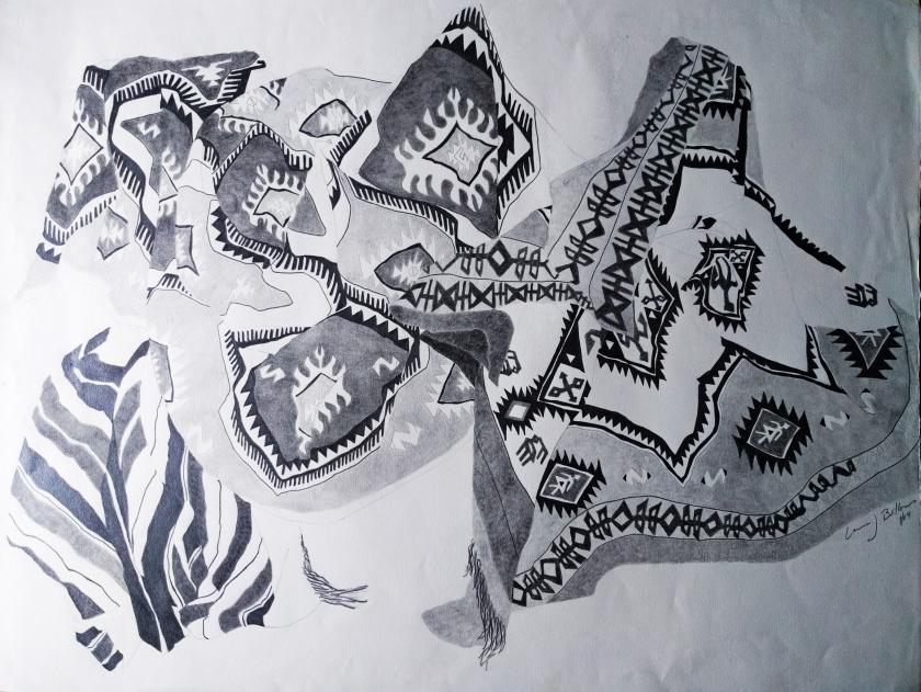 kilim drawing
